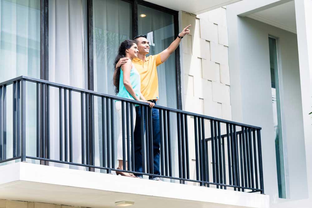hekwerk van een balkon